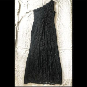 One by Eight Black One Shoulder Dress